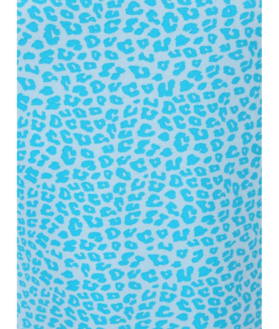 Světle modré jednodílné holčičí plavky se vzorem name it Zujungle