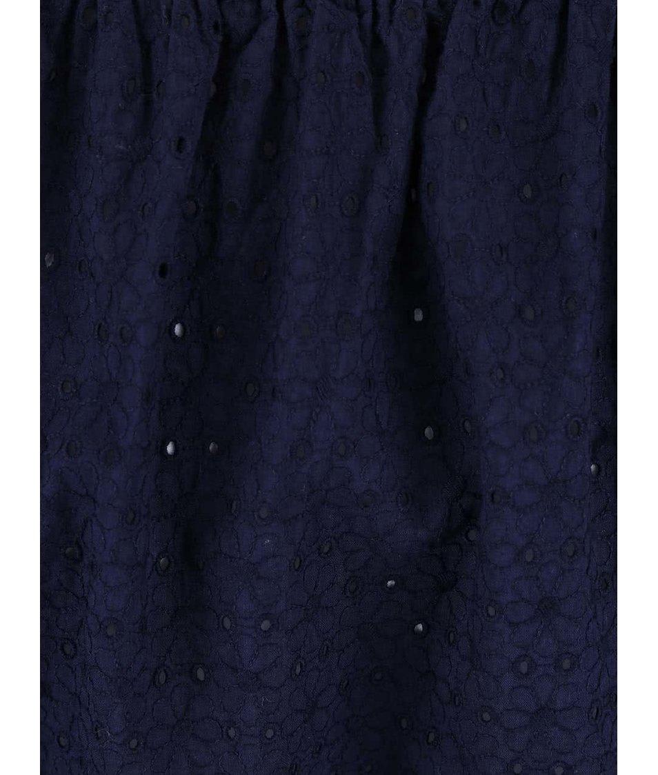 Modrý top s lodičkovým výstřihem Dorothy Perkins