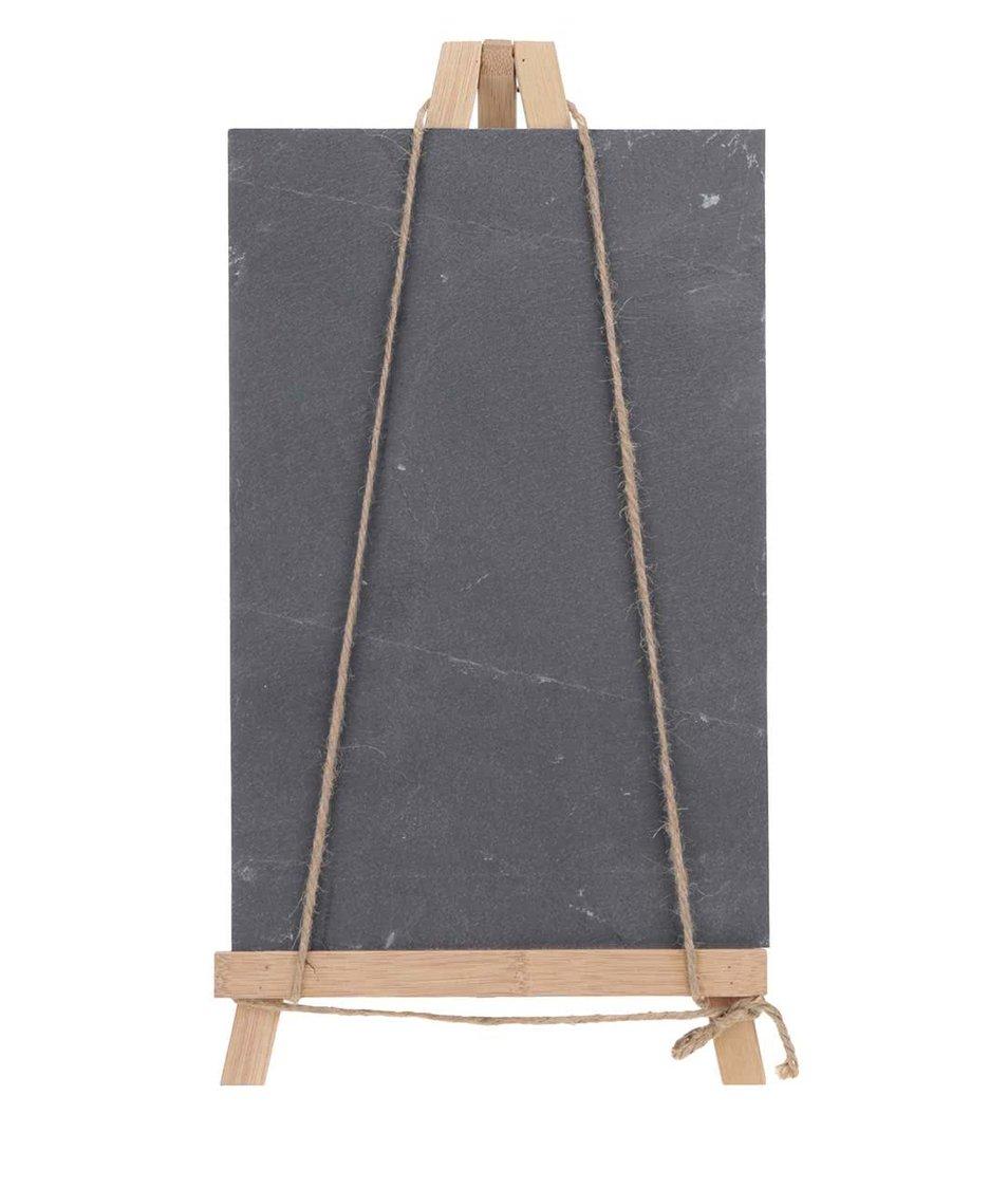 Černá tabule s dřevěným stojanem CGB
