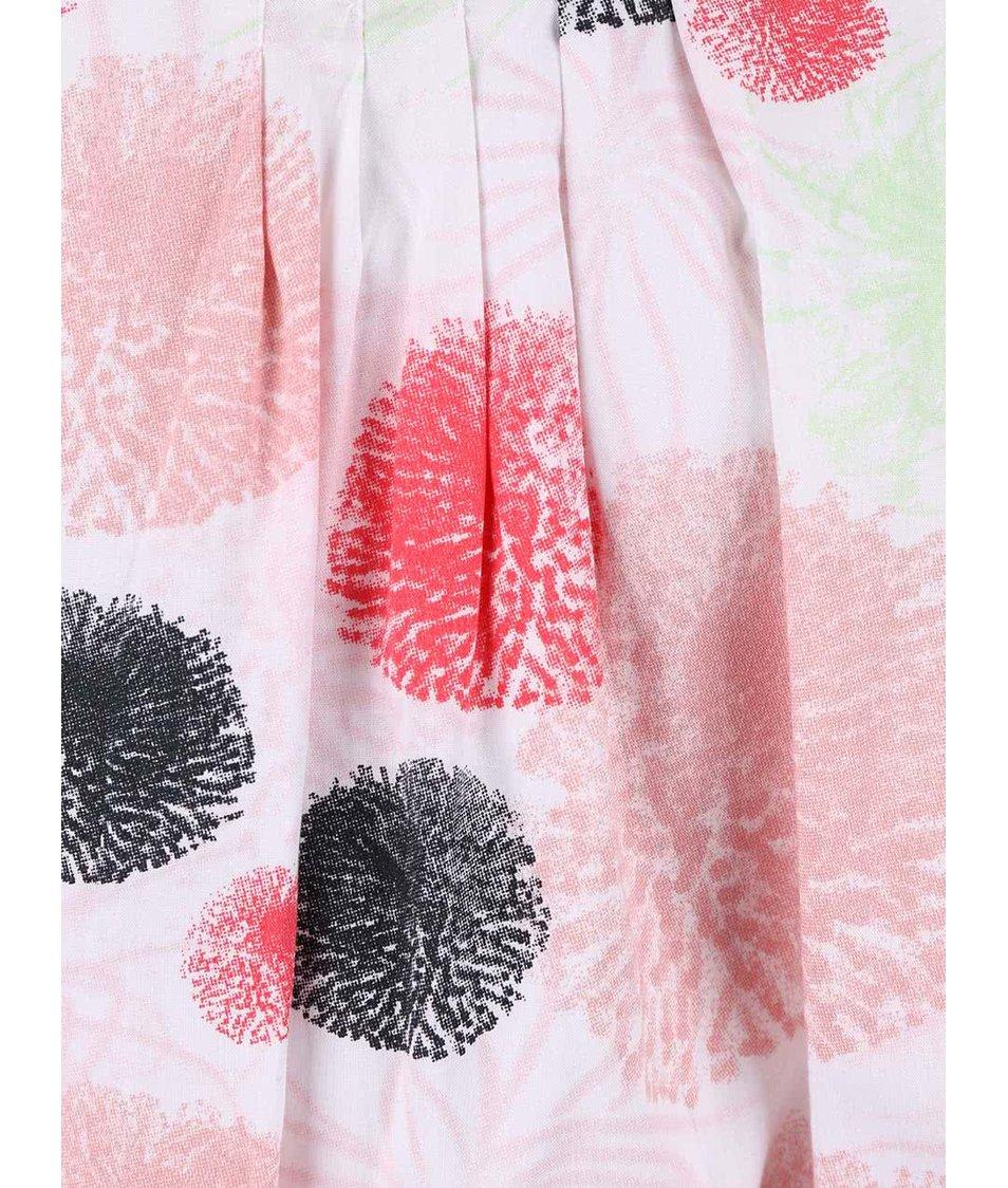 Bílé holčičí šaty s barevnými skvrnami name it Tvalaia