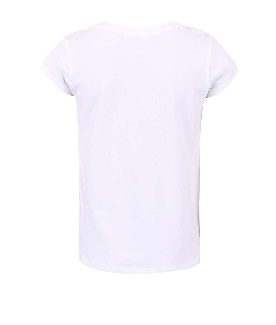 Bílé holčičí tričko name it Gunia