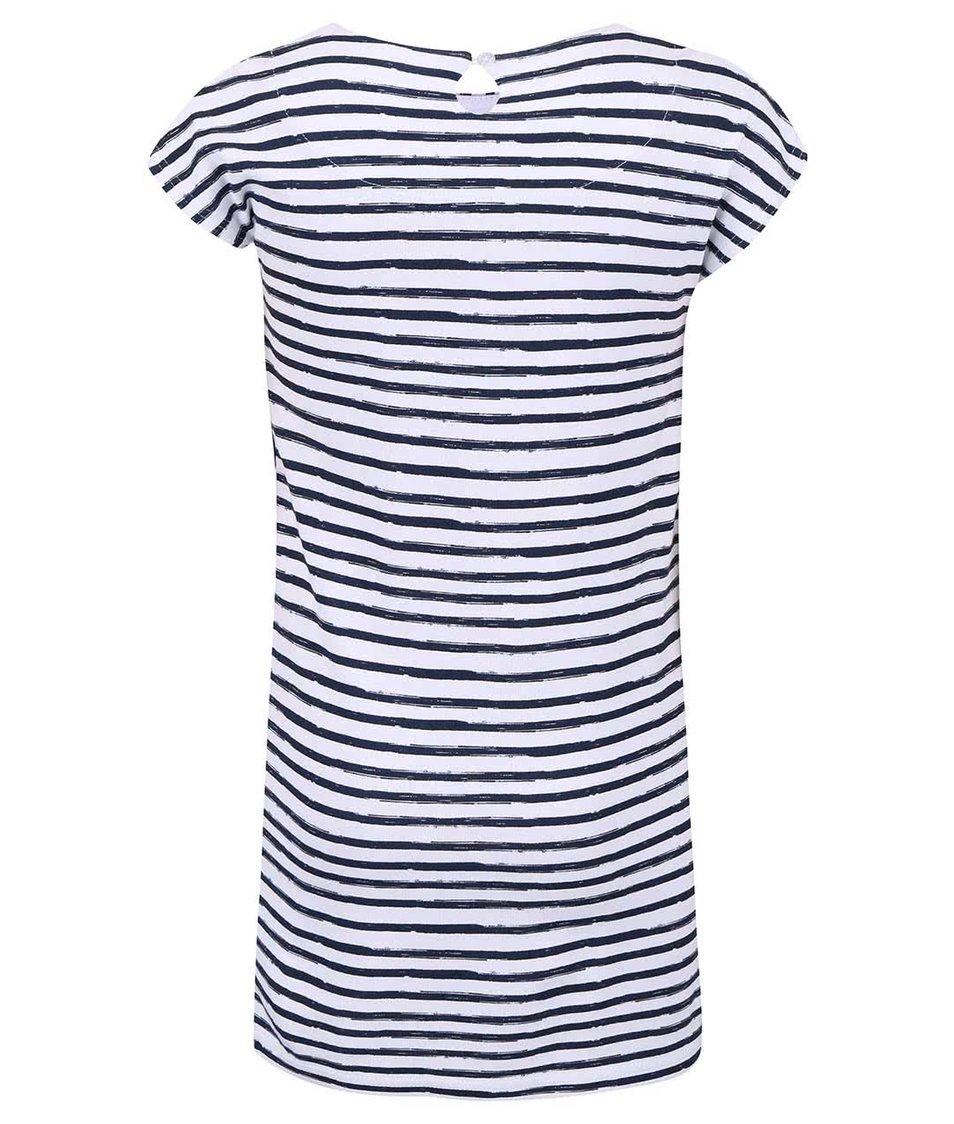 Bílo-modré pruhované holčičí šaty name it Giddy