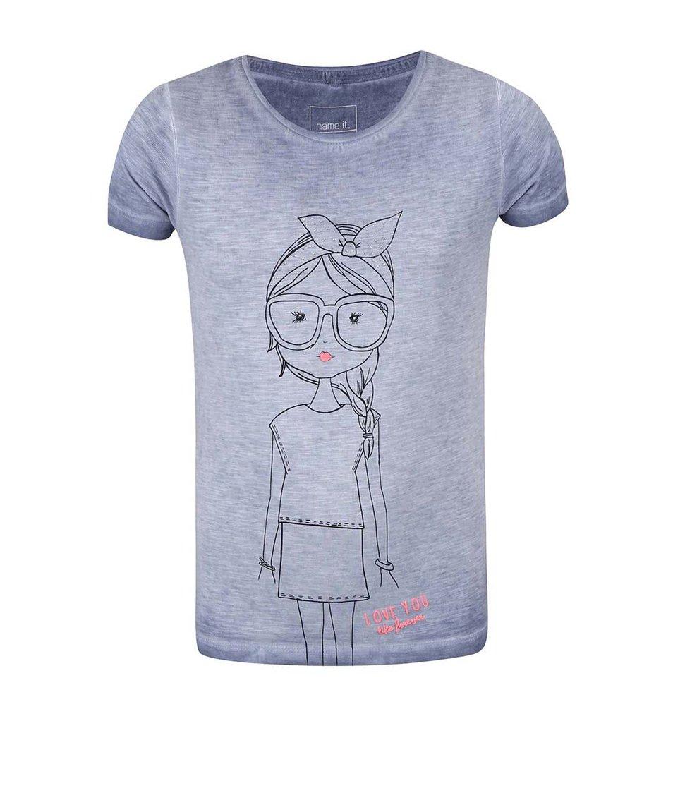 Modré holčičí žíhané tričko name it Gilu