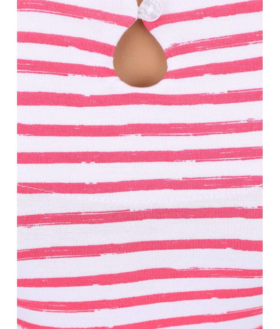 Bílo-růžové pruhované holčičí šaty name it Giddy