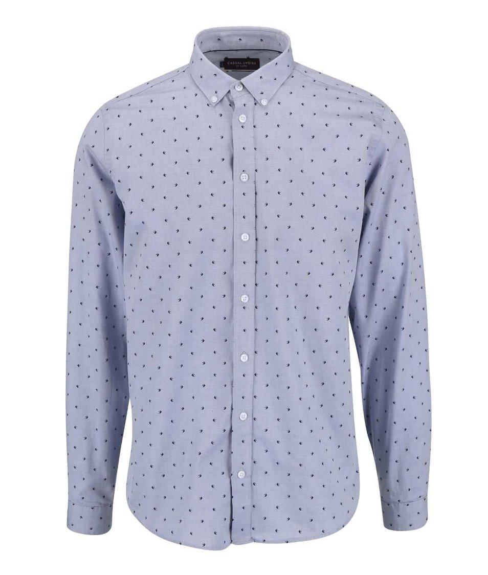 Šedomodrá košile s vlaštovkami Casual Friday by Blend