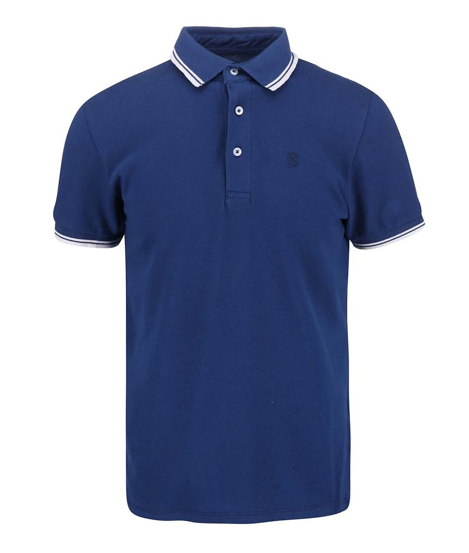 Modré polo triko Casual Friday by Blend