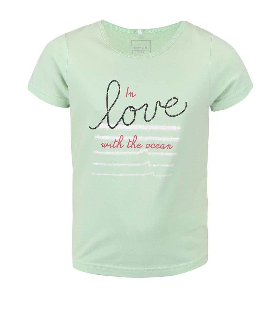 Zelené holčičí tričko s nápisem name it Vix