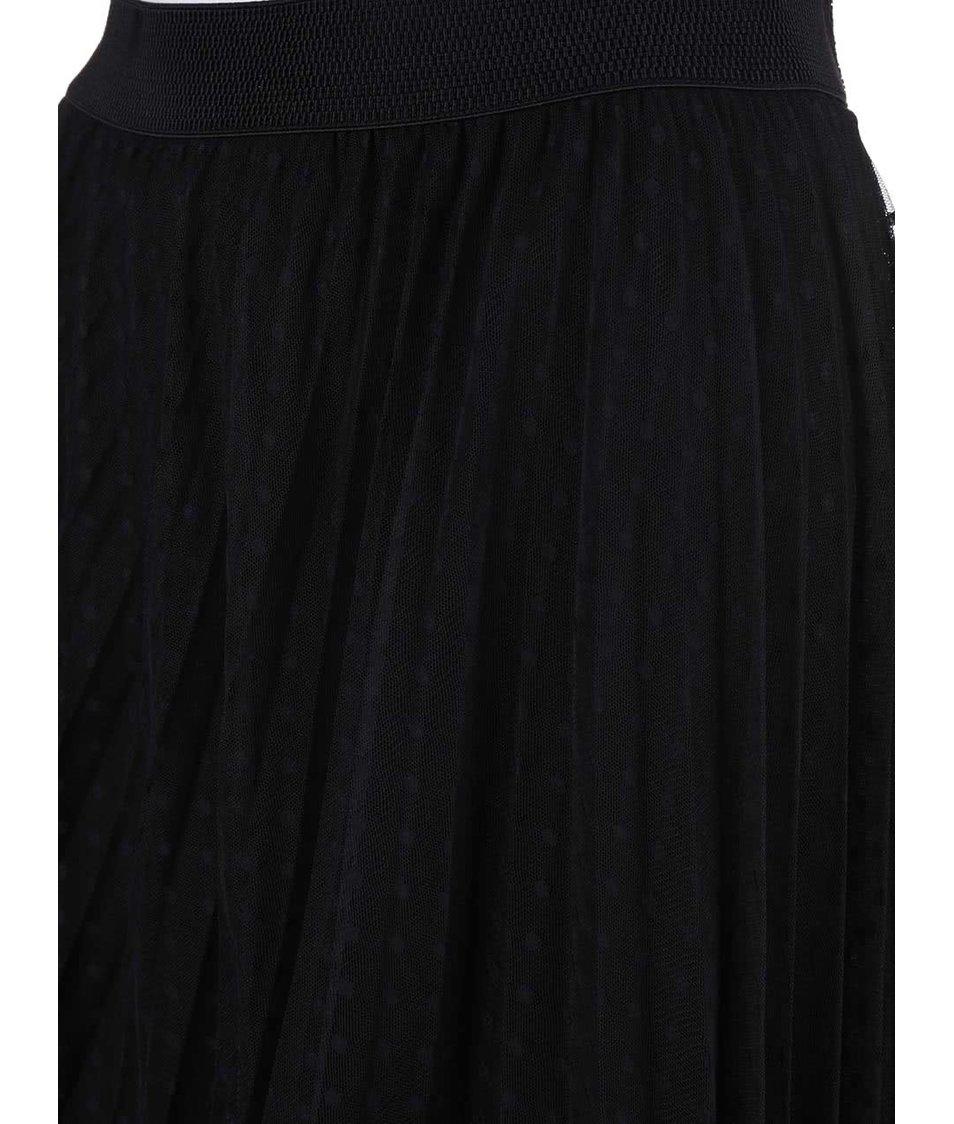 Černá sukně s tečkovaným vzorem Alchymi