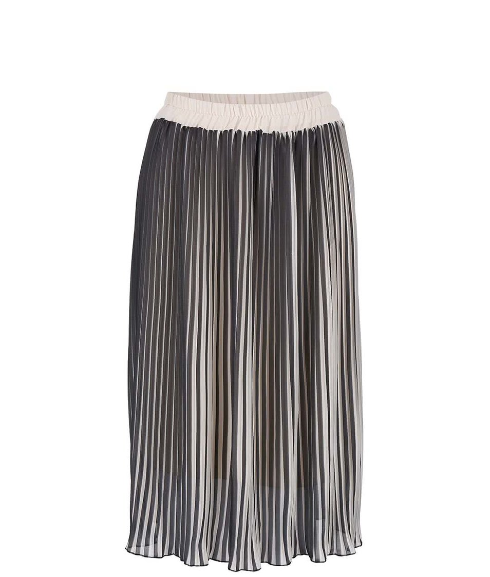 Béžovo-černá plisovaná sukně Alchymi Sunstone