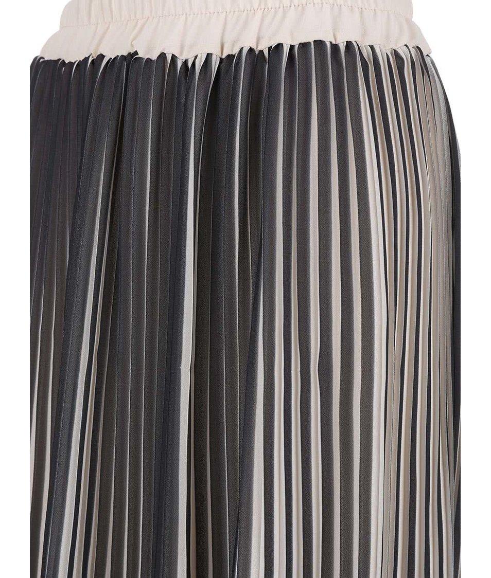 Béžovo-černá plisovaná sukně Alchymi
