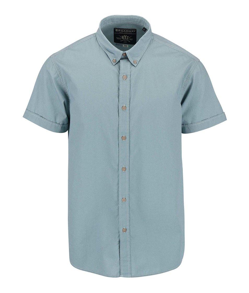 Světle zelená pánská košile s krátkým rukávem Broadway Eugen