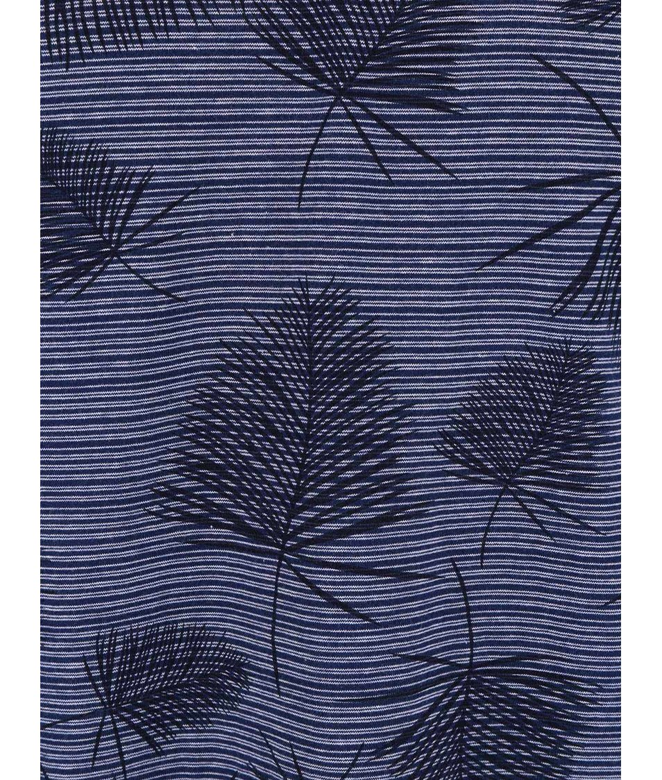 Tmavě modré pánské vzorované triko Broadway Ewen