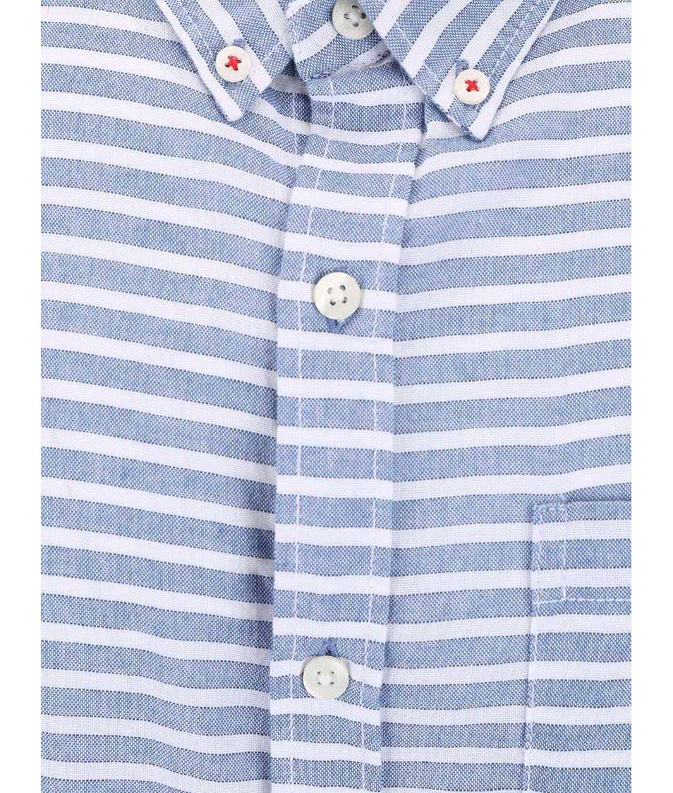 Modro-šedá pánská pruhovaná košile Broadway Everett