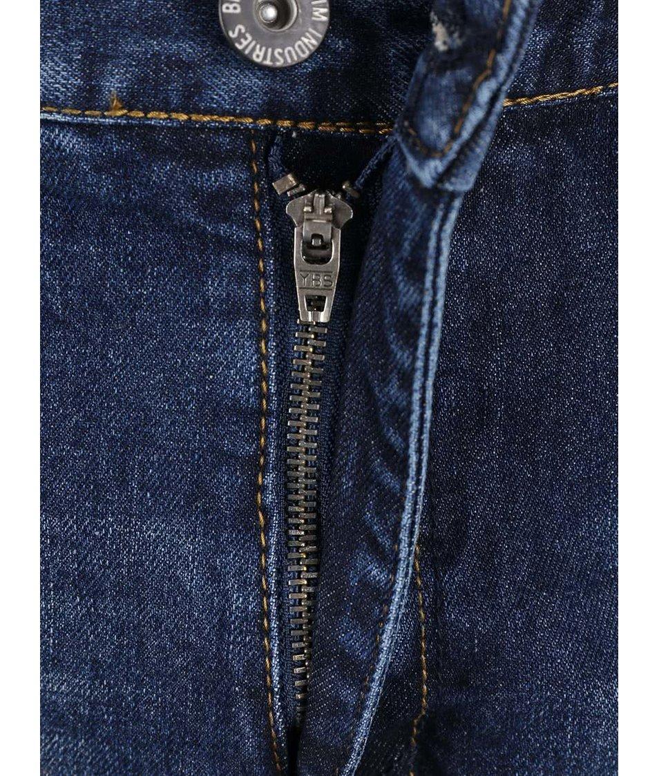 Tmavě modré pánské džínové kraťasy Broadway Dick