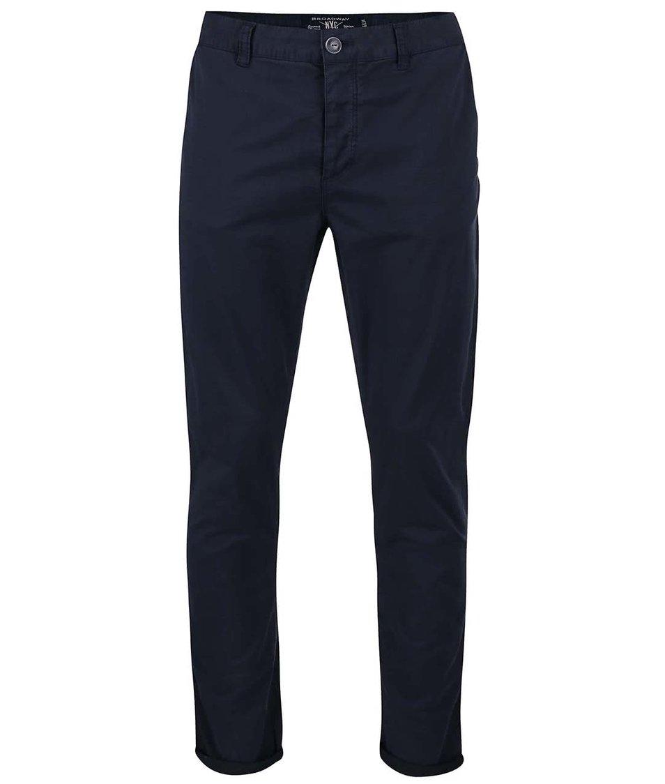 Tmavě modré pánské kalhoty Broadway Ryan