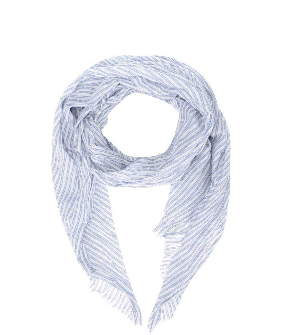 Modro-bílý pánský pruhovaný šátek Broadway Danette
