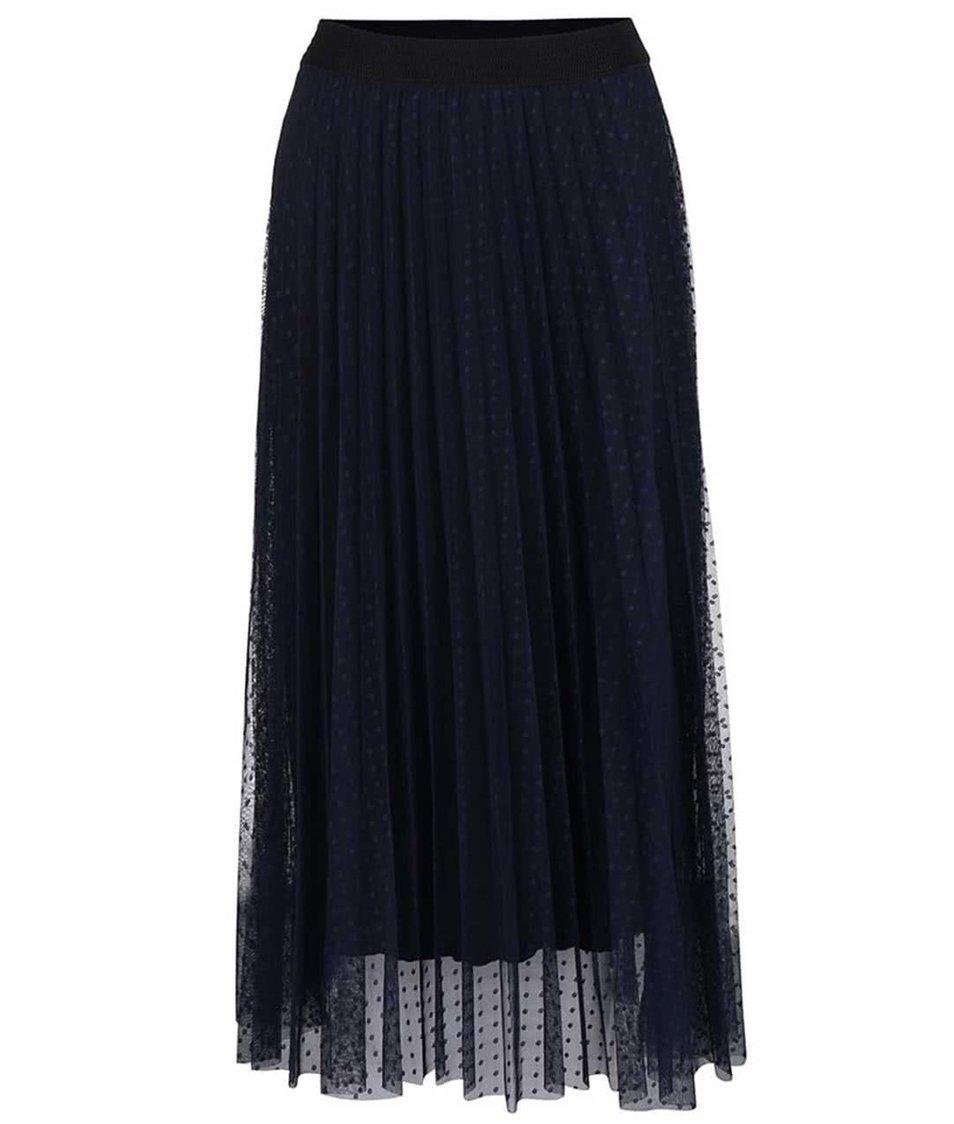 Modrá sukně s tečkovaným vzorem Alchymi