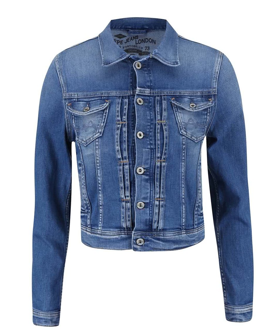 Modrá dámská džínová bunda Pepe Jeans Mikas