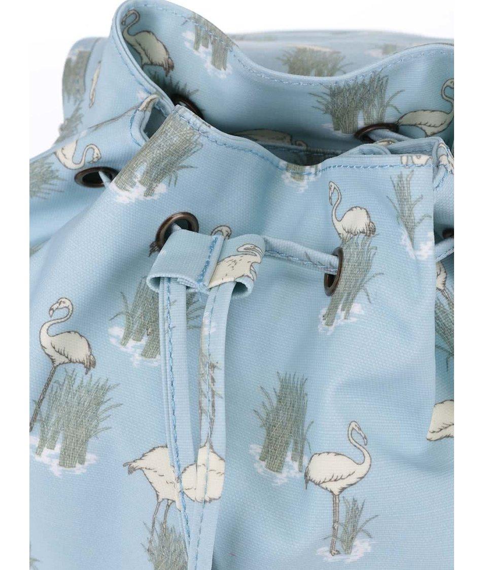 Modrý batoh s plameňáky Brakeburn Flamingo