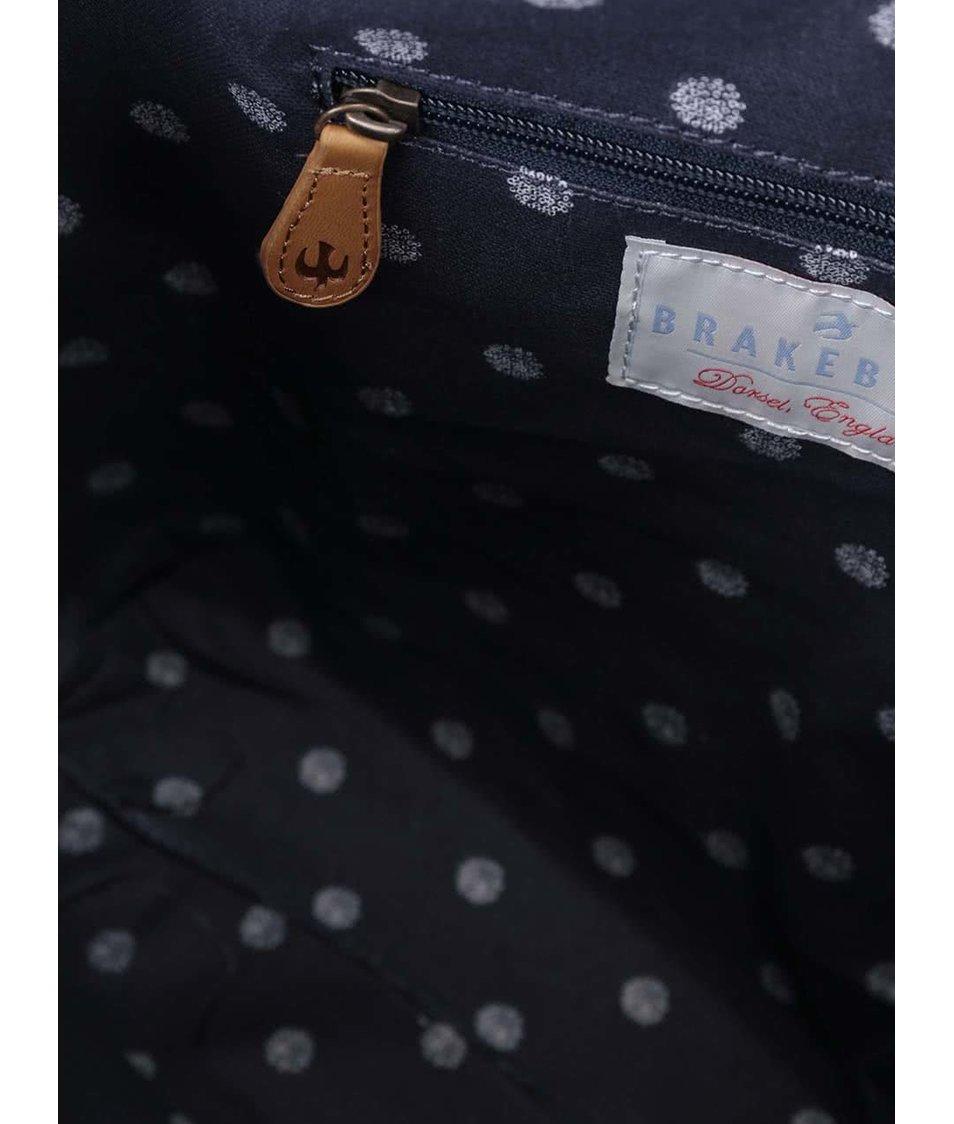 Tmavě modrá taška se vzory Brakeburn Polka