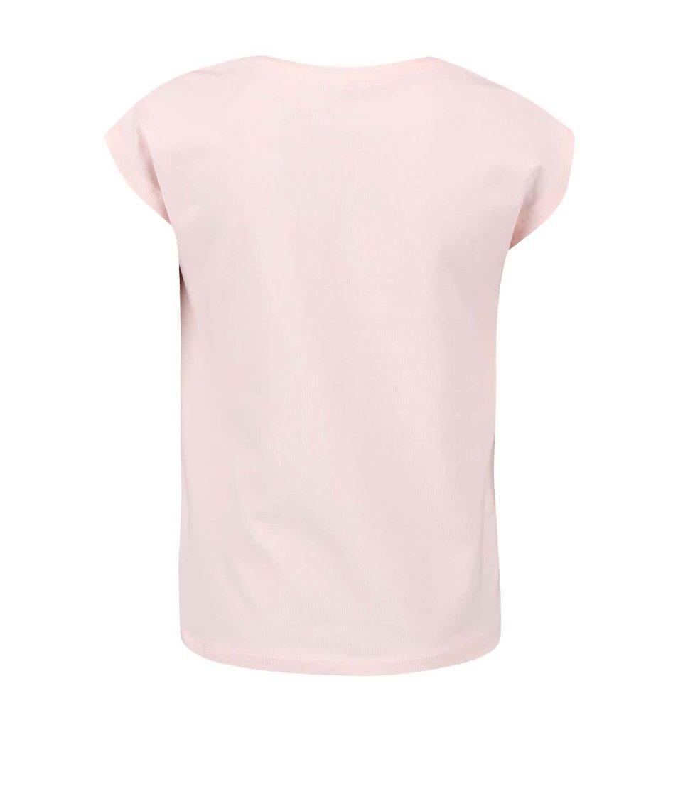 Růžové holčičí triko s potiskem rybky name it Gea