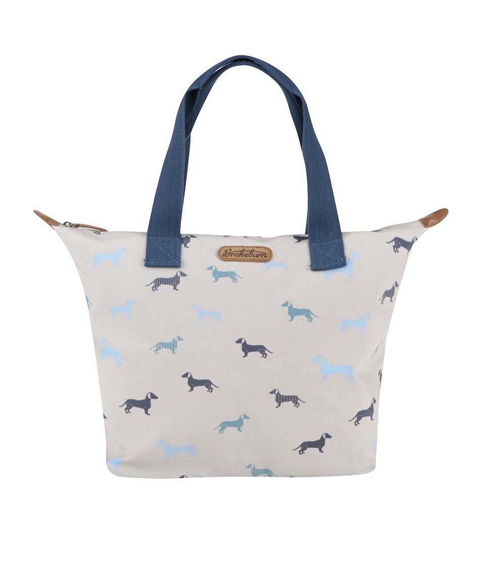 Krémová taška s jezevčíky Brakeburn Sausage Dog