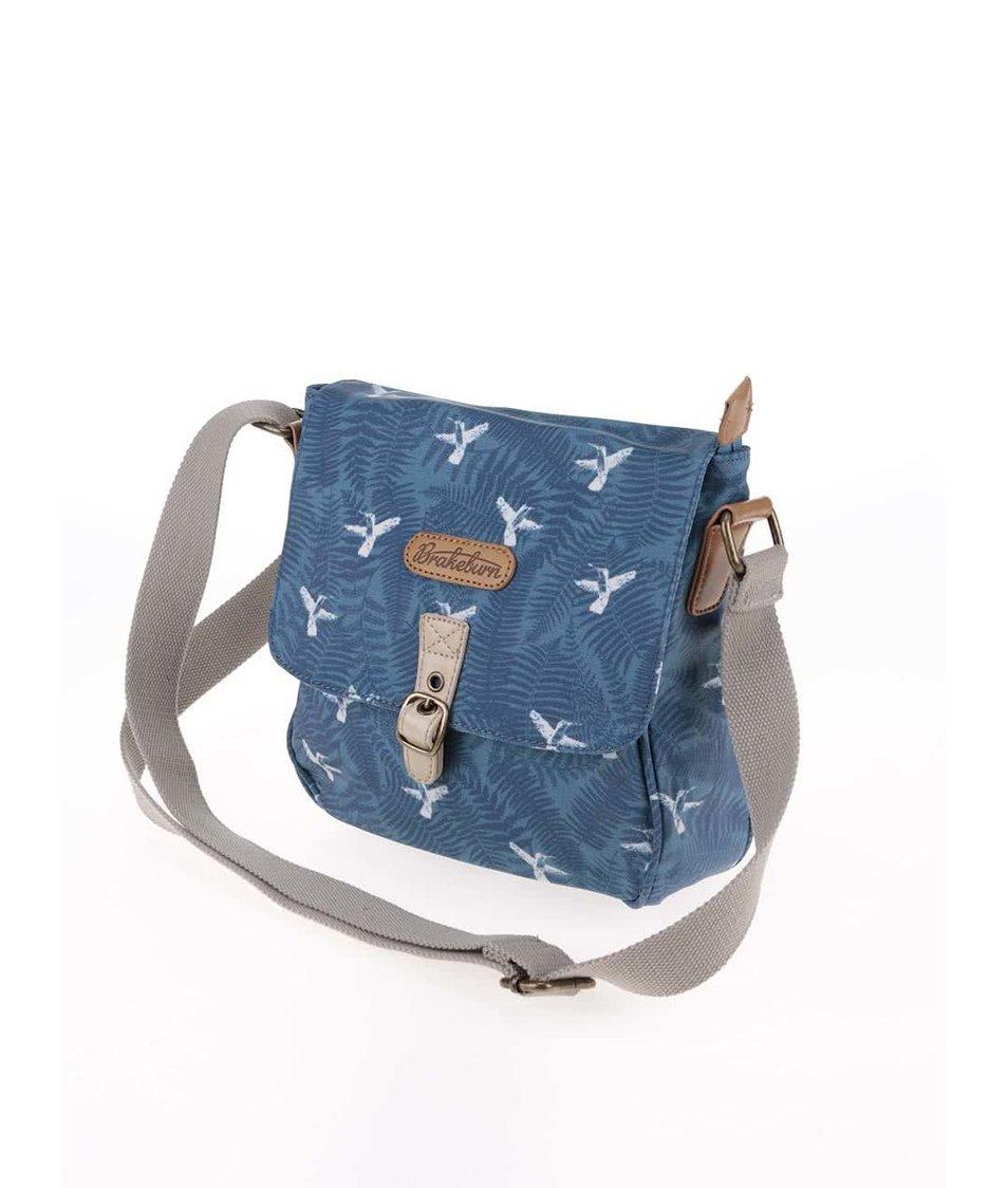 Modrá crossbody kabelka s potiskem Brakeburn Humming Bird