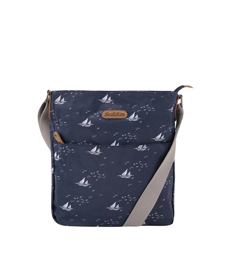 Modrá crossbody taška s plachetnicemi Brakeburn Boats