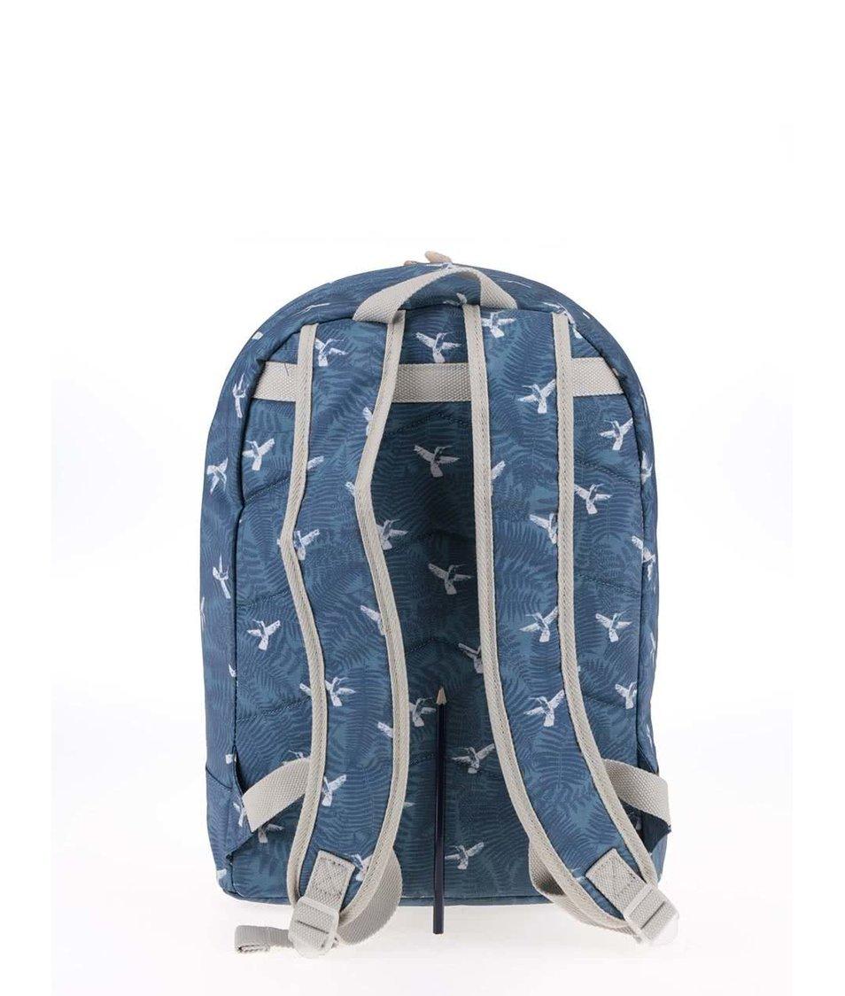 Modrý batoh s kolibříky Brakeburn Hummingbird