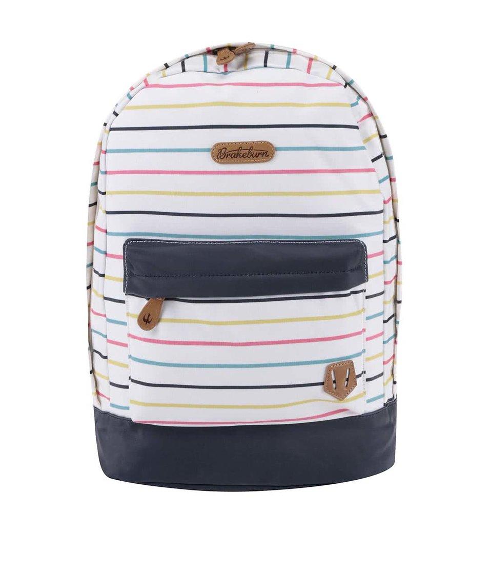 Bílý pruhovaný batoh Brakeburn Stripe