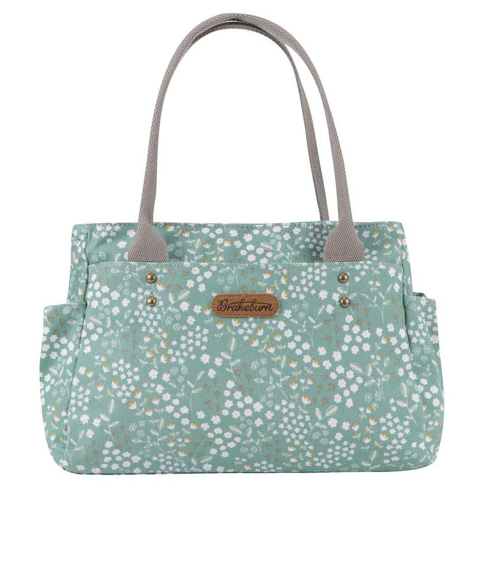 Zelená květovaná taška Brakeburn Floral