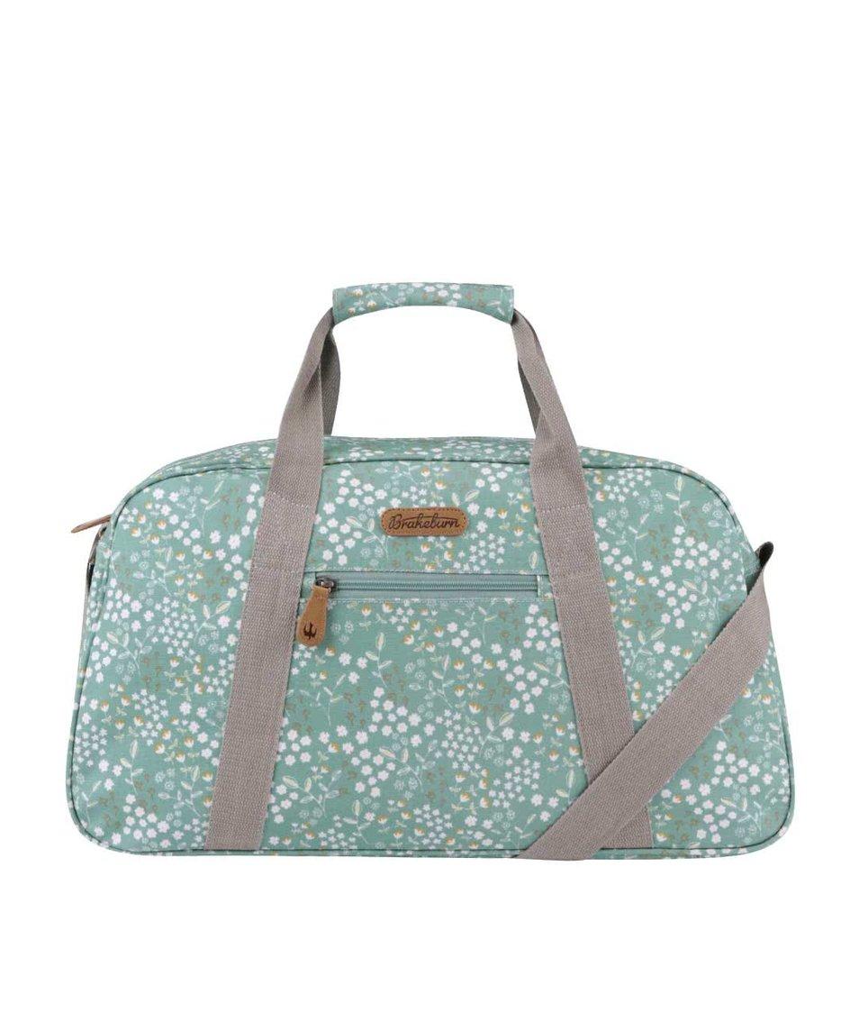 Zelená květovaná cestovní taška Brakeburn Floral