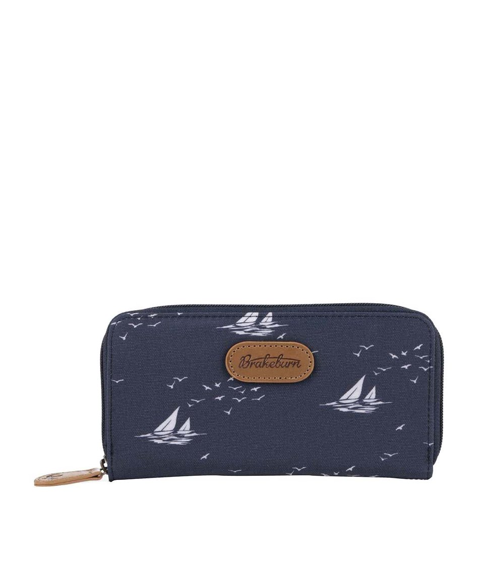 Tmavě modrá peněženka Brakeburn Boats