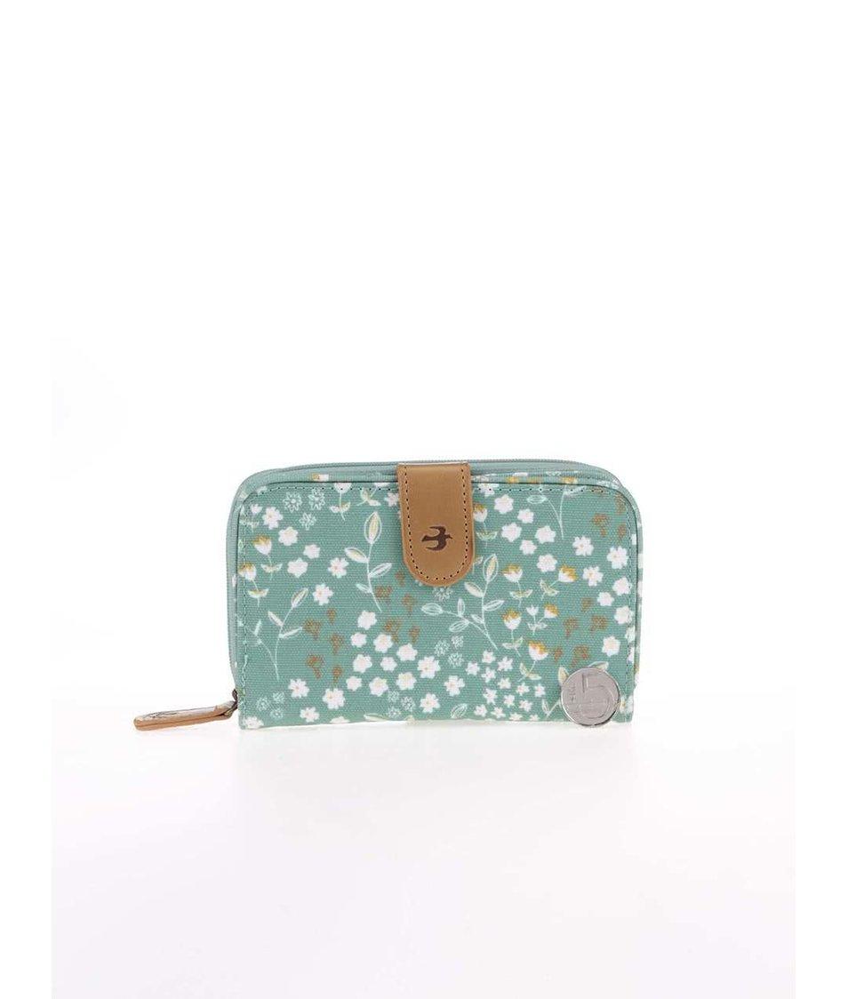 Zelená květovaná peněženka Brakeburn Floral