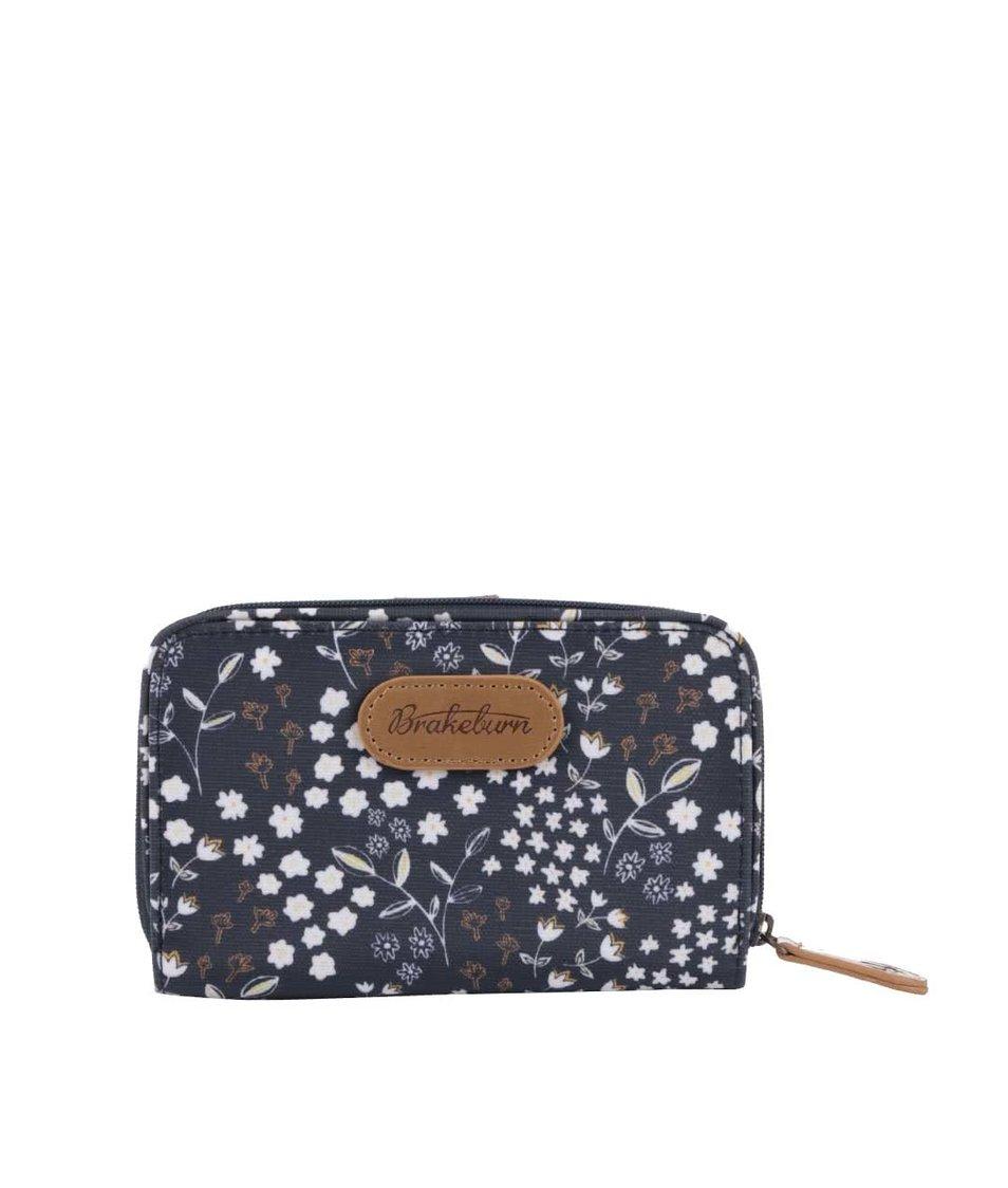 Tmavě modrá květovaná peněženka Brakeburn Floral