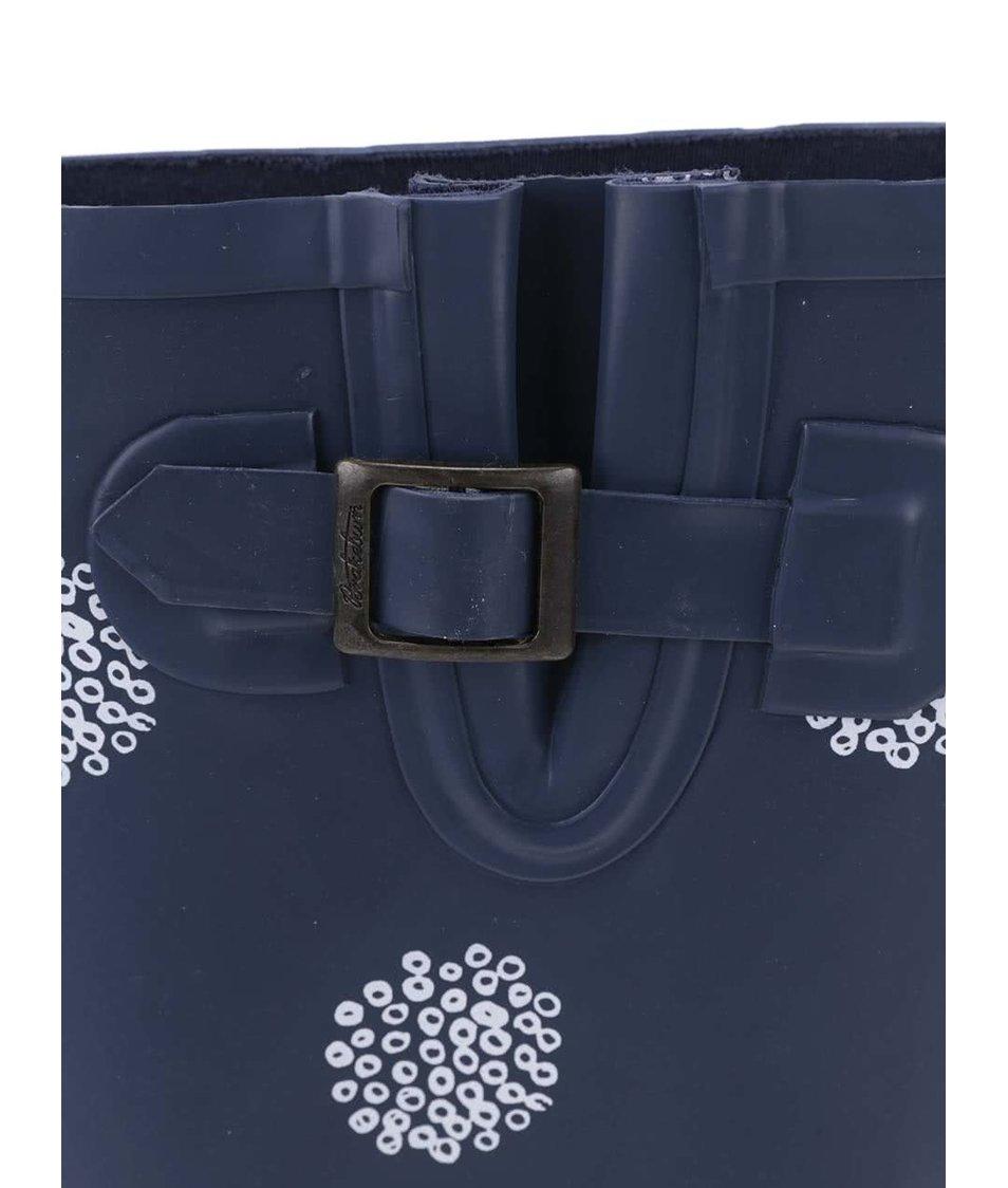 Tmavě modré holínky se vzorem Brakeburn Polka