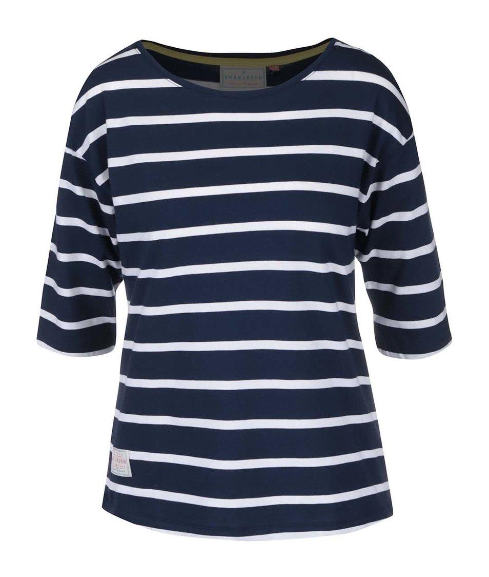 Tmavě modré pruhované tričko s 3/4 rukávy Brakeburn Nautical