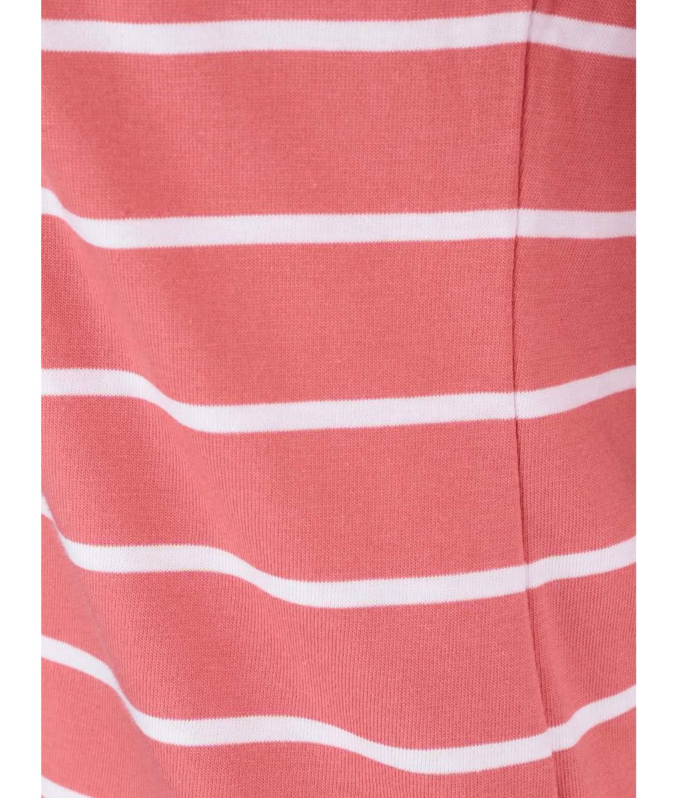 Růžové pruhované tričko s 3/4 rukávy Brakeburn Stripe