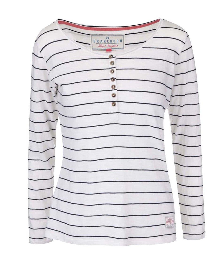 Bílé pruhované tričko s dlouhým rukávem Brakeburn Spring