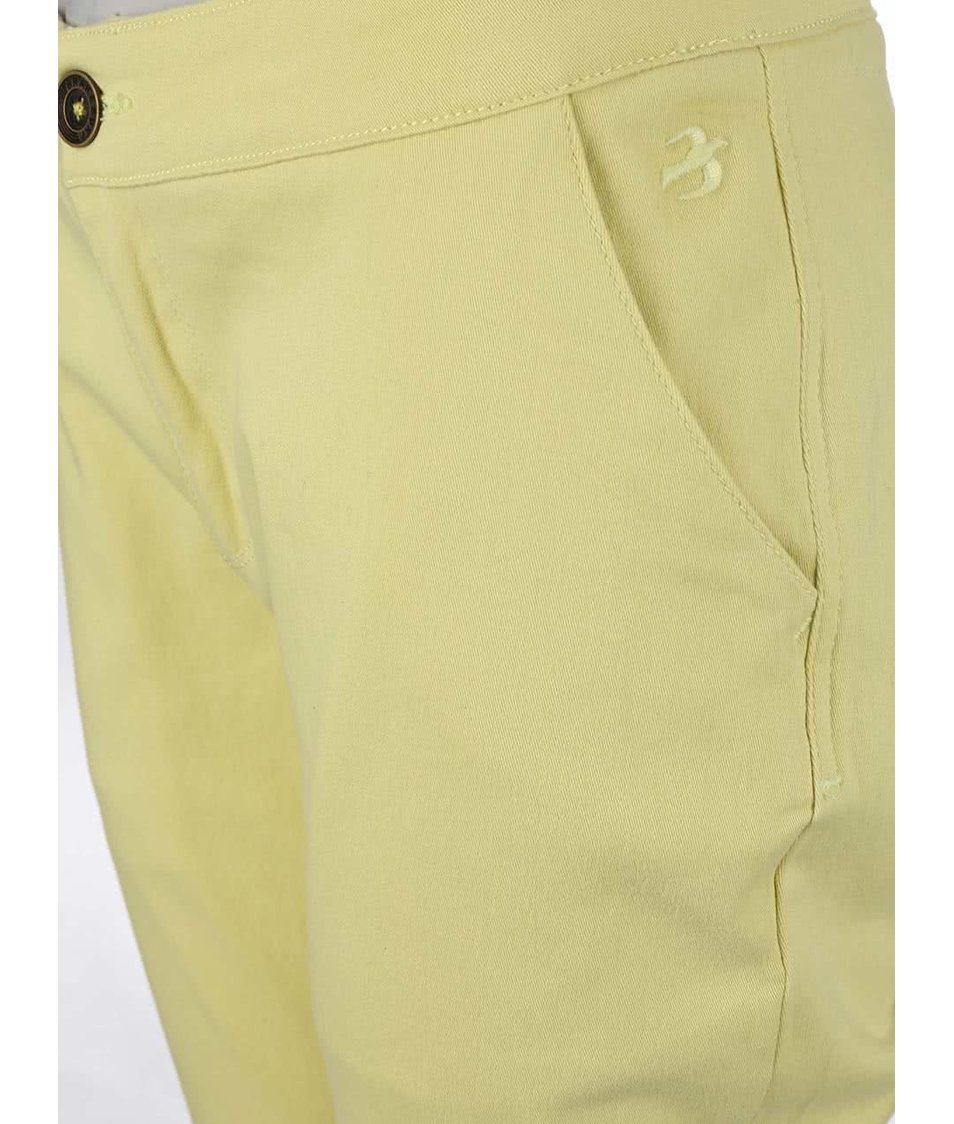 Světle žluté chino kalhoty Brakeburn Zip Hem