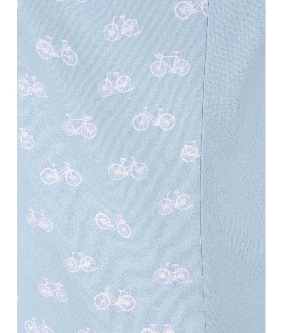 Světle modré tričko s potiskem Brakeburn Bikes