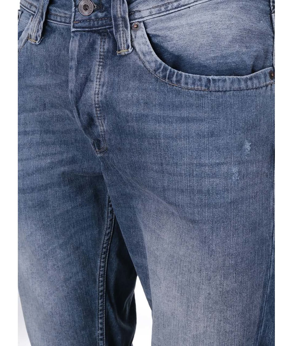 Modré pánské džínové kraťasy Pepe Jeans Cash