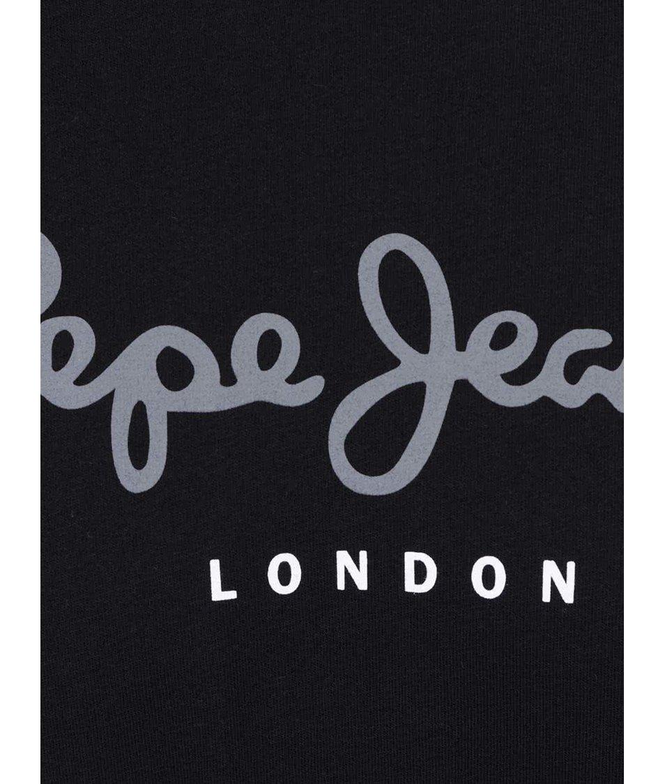 Černé pánské triko s nápisem Pepe Jeans Eggo