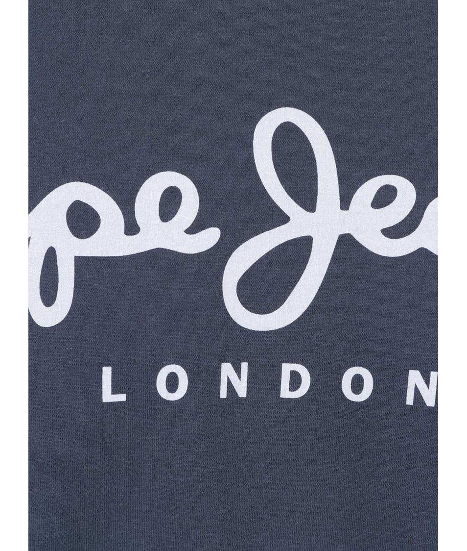 Modré pánské triko s kulatým výstřihem Pepe Jeans Original