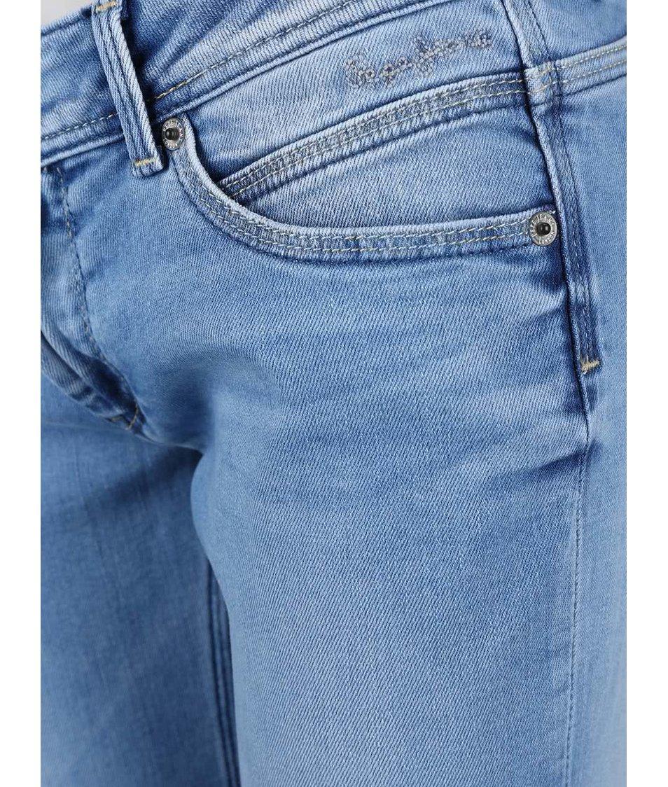 Světle modré dámské slim fit džíny s nízkým pasem Pepe Jeans Ariel