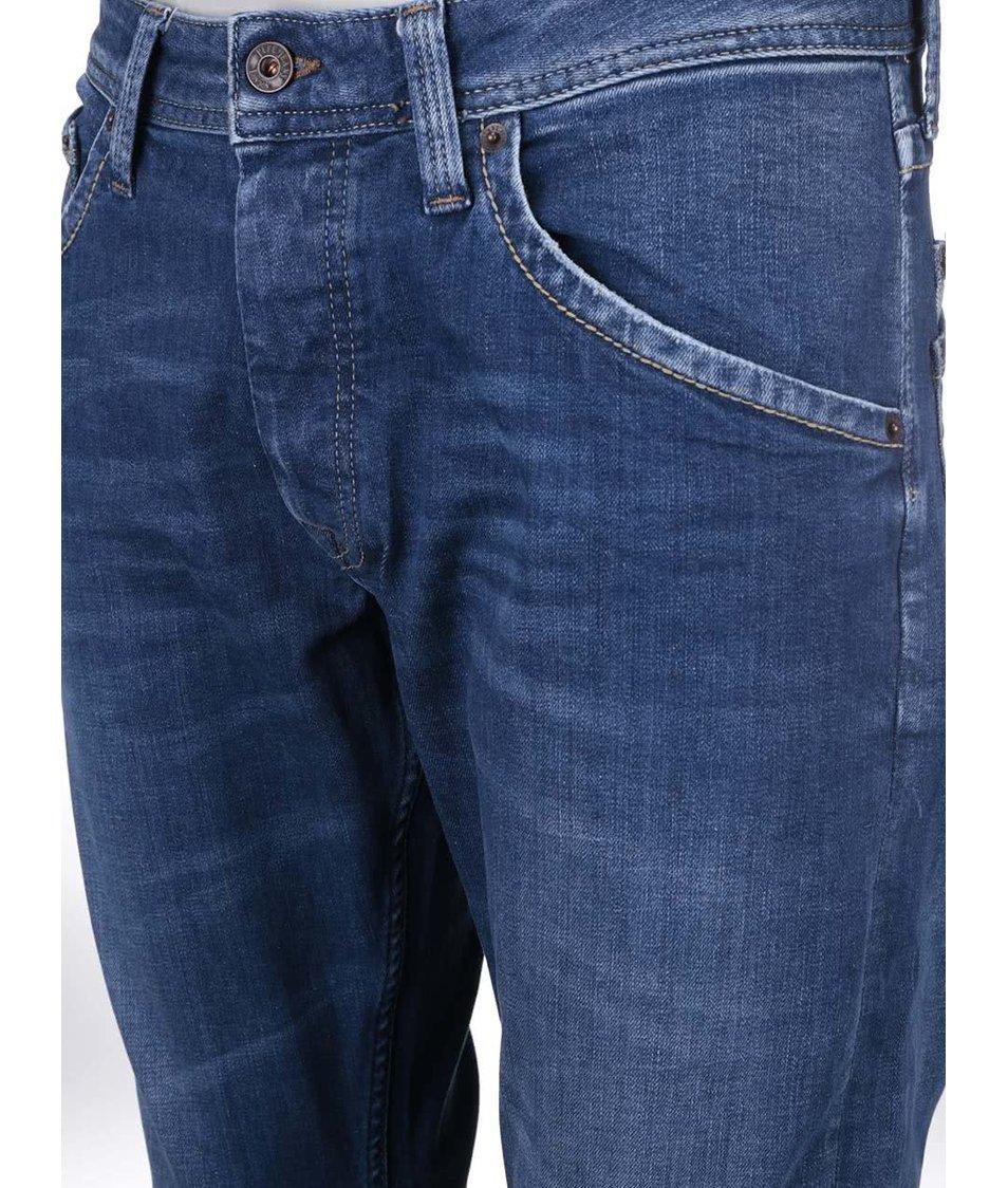 Modré pánské zúžené džíny Pepe Jeans Kolt