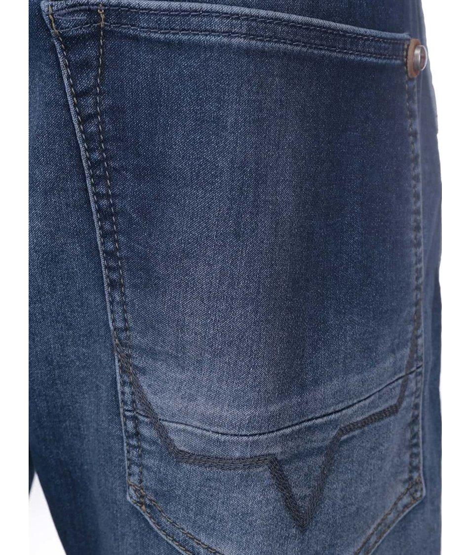 Modré pánské džíny s tkaničkami Pepe Jeans Caxton