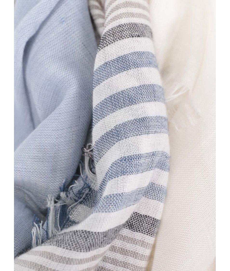 Modro-šedý pánský pruhovaný šátek Broadway Dulcia