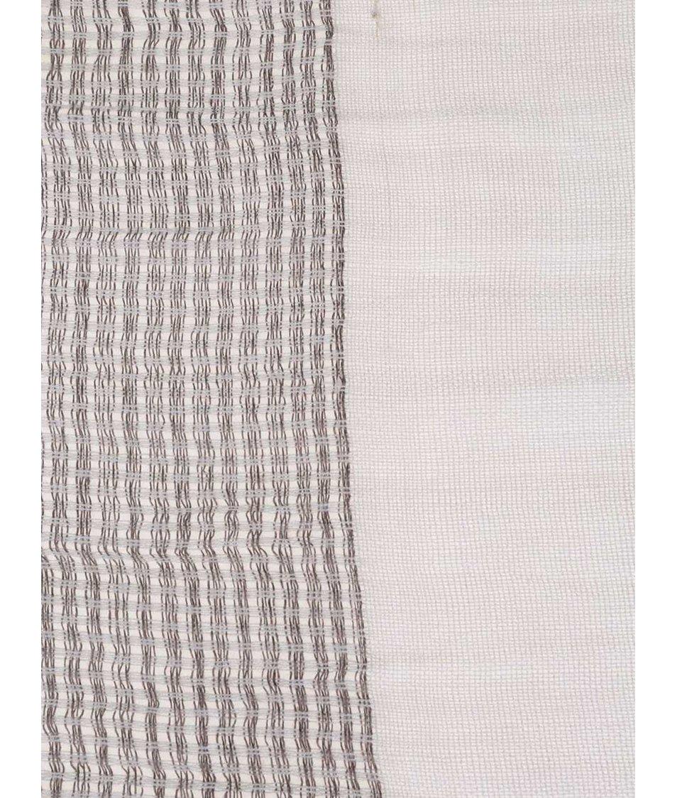 Krémovo-béžový dámský pruhovaný šátek Broadway Danette
