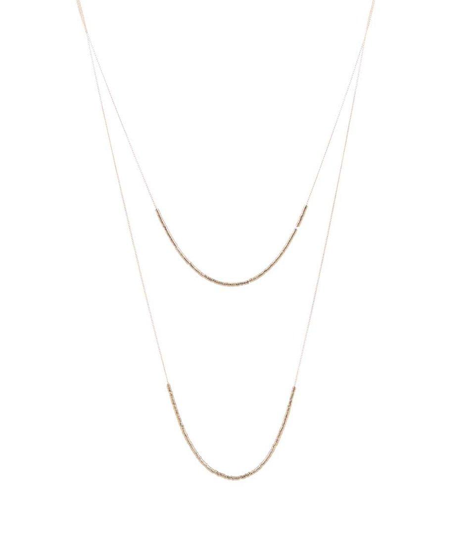 Kaskádovitý náhrdelník ve zlaté barvě Pieces Tashia